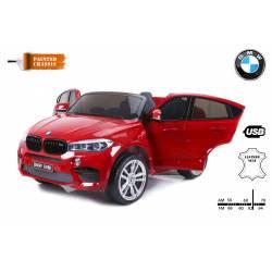 voiture électrique pour enfant BMW X6 M métallisée noire, siège cuir