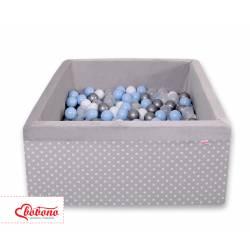 Piscine à balles carré white dots on grey