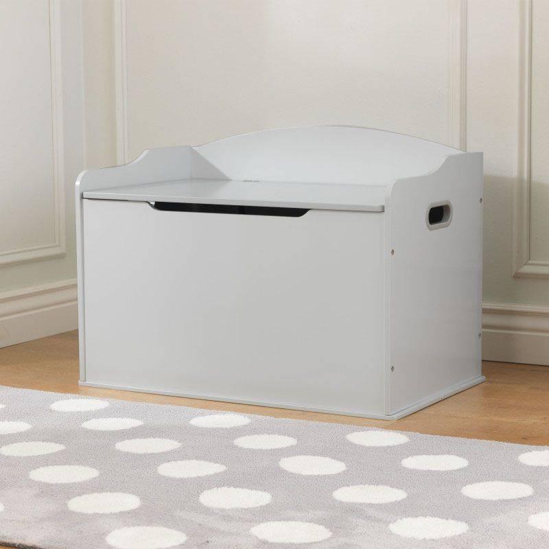 coffre jouet austin gris. Black Bedroom Furniture Sets. Home Design Ideas