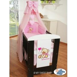 Lit et Parure de lit bébé teddy bear rose