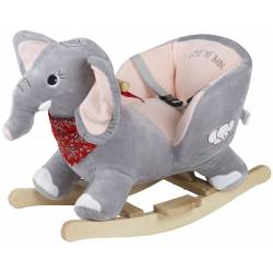 Bascule en bois éléphant babygo