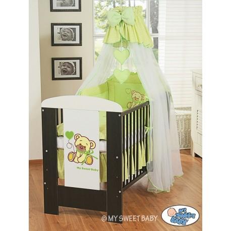 Lit et Parure de lit bébé teddy bear vert