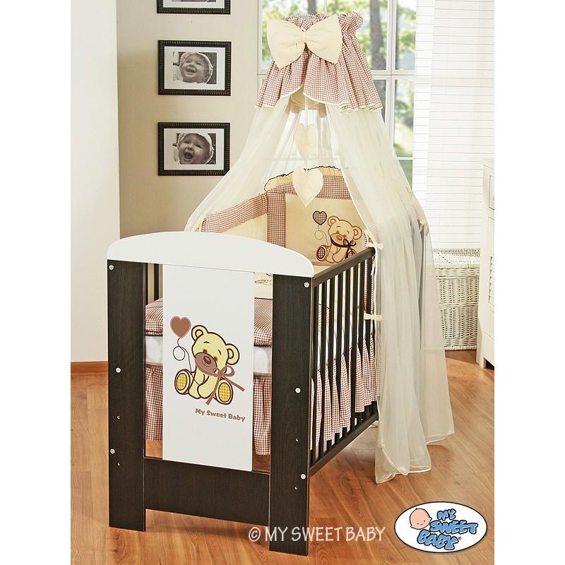 lit b b avec parure de lit ours marron lit enfant avec. Black Bedroom Furniture Sets. Home Design Ideas