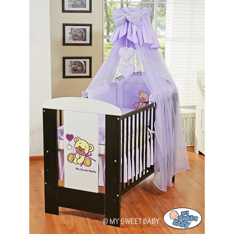 lit enfant parure de lit ourson violet lit pour b b. Black Bedroom Furniture Sets. Home Design Ideas