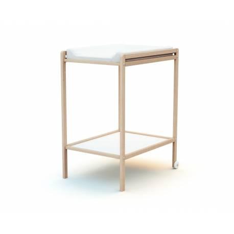 Table à langer 1 étagère en bois - 4 coloris