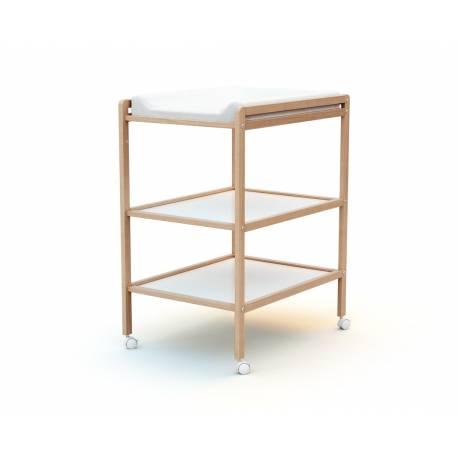 Table à langer 2 étagères en bois - 3 coloris