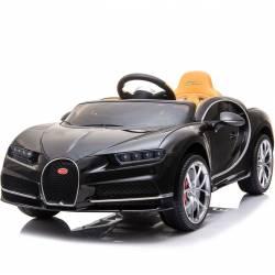 Voiture électrique Bugatti Chiron noire pour enfant