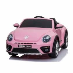 voiture électrique New Beetle 12 V rose
