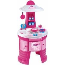 Cuisine pour enfant avec accessoires Unogiochi modèle rond Princesse rose