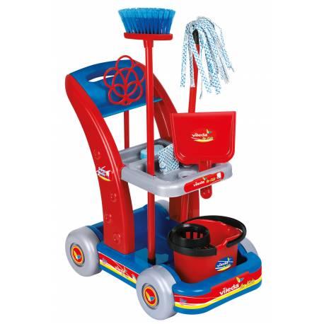 chariot de ménage avec accessoires Unogiochi modèle Vileda