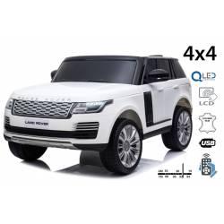 voiture électrique pour enfant Range Rover rouge, siège cuir