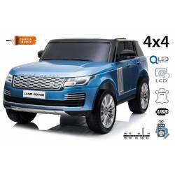 voiture électrique pour enfant Range Rover blanche, siège cuir