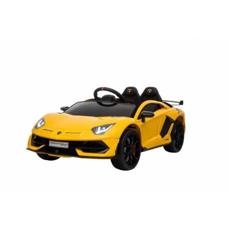 voiture électrique pour enfant Lamborghini aventador jaune