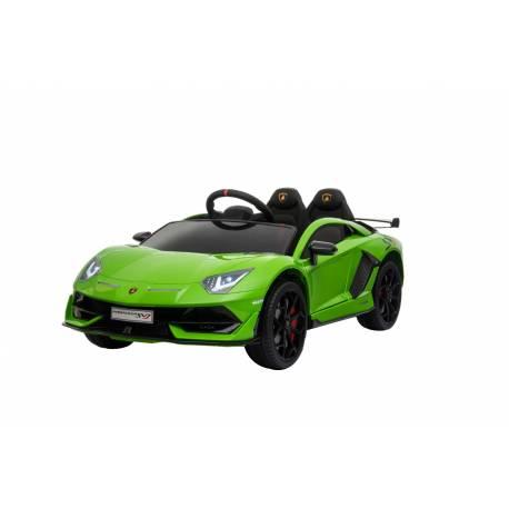 voiture électrique pour enfant Lamborghini aventador verte