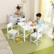 Ensemble table pour enfant et ses 4 chaises blanc Farmhouse