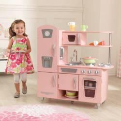 Cuisine pour enfant vintage rose