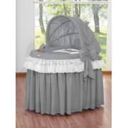 Berceau et parure complète avec jupe gris anthracite