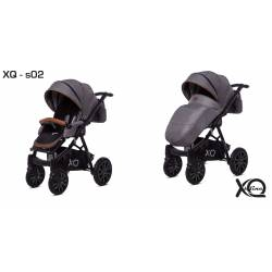 poussette simple XQ Sline S01 gris et noir