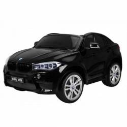 voiture électrique pour enfant BMW X6 noire, siège cuir
