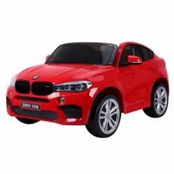 voiture électrique pour enfant BMW X6 rouge, siège cuir