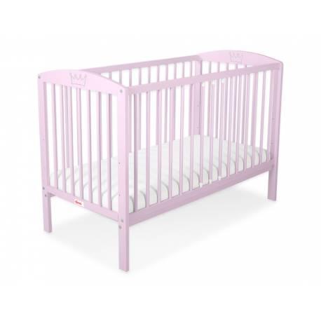 Lit bébé couronne rose + matelas