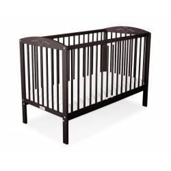 lit bébé coeur brun + matelas