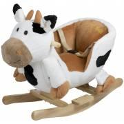 Bascule en bois Vache babygo