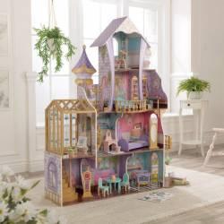 Château enchanté avec serre pour poupée