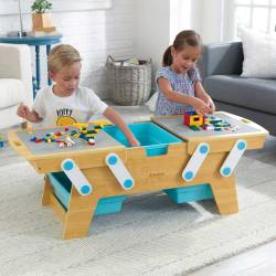 Table de rangement Building Bricks Play N Store