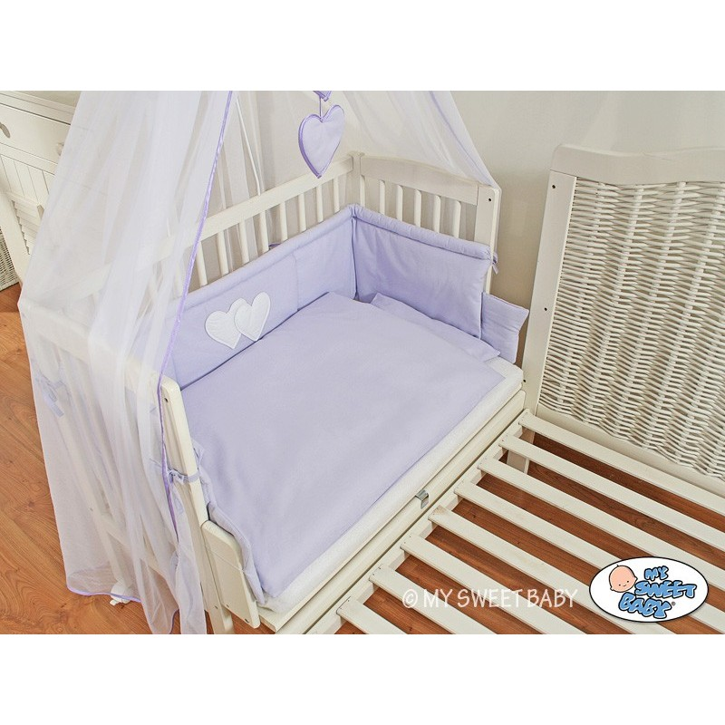lit cododo pour b b avec parure c ur violet lit enfant. Black Bedroom Furniture Sets. Home Design Ideas