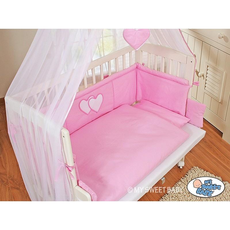 lit cododo pour b b avec parure c ur rose lit enfant avec matelas. Black Bedroom Furniture Sets. Home Design Ideas