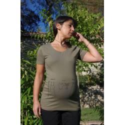 T Shirt de grossesse Corde à linge