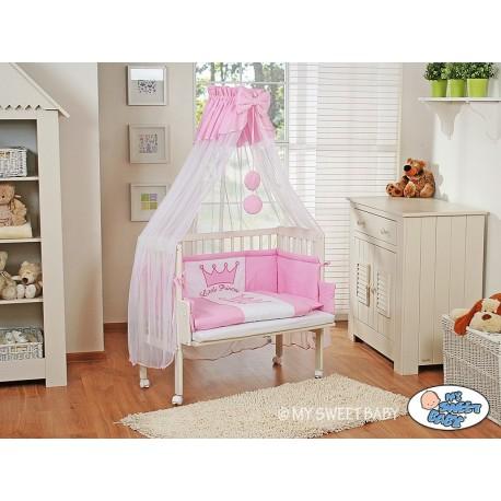 Lit bébé cododo avec parure prince/princesse rose
