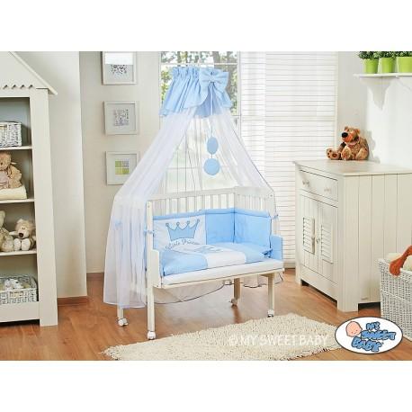 Lit bébé cododo avec parure prince/princesse bleu