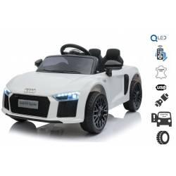 Voiture électrique pour enfant Audi R8 small blanche