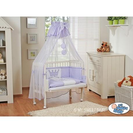 Lit bébé cododo avec parure prince/princesse violet