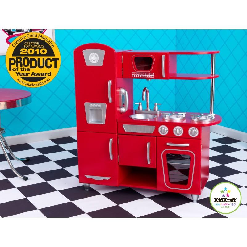 cuisine vintage rouge cuisine pour enfant