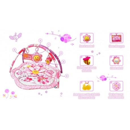 Tapis D Eveil Fleurs Rose Decoration De Chambre Bebe