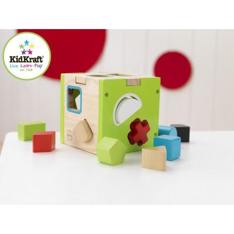 cube à formes en bois