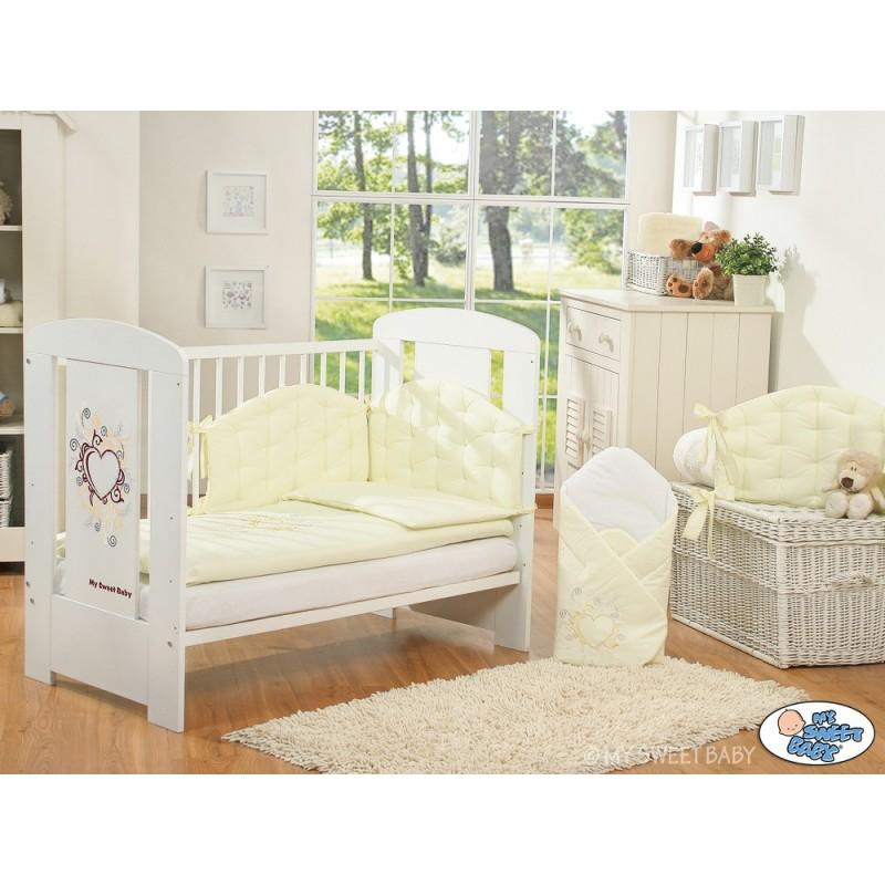lit pour b b collection chic avec sa parure cr me lit enfant avec parure. Black Bedroom Furniture Sets. Home Design Ideas