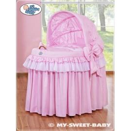 Berceau et parure complète avec jupe rose