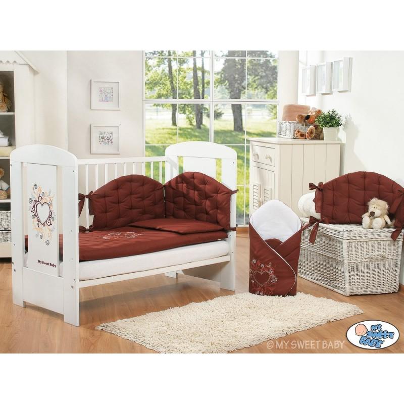 lit enfant collection chic avec sa parure marron lit pour b b avec parure. Black Bedroom Furniture Sets. Home Design Ideas
