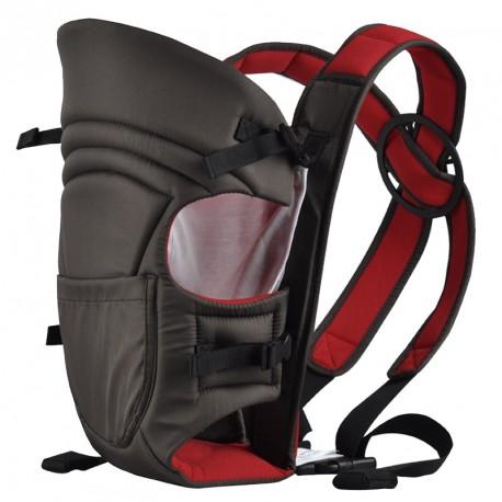 Porte bébé ventral noir et rouge