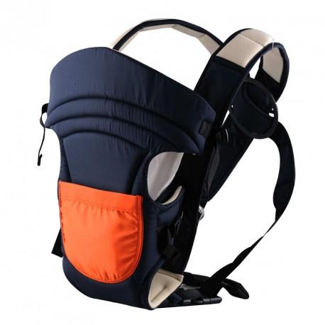 Porte bébé ventral noir et orange