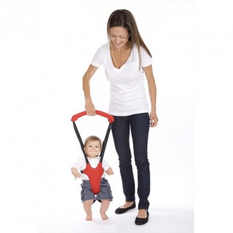 Porte bébé aide à la marche rouge et noir