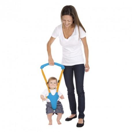 Porte bébé aide à la marche bleu et orange