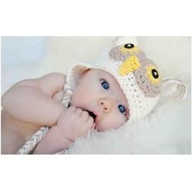 bonnet hibou beige