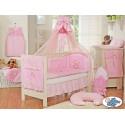 Parure de lit bébé complète ours teddy rose
