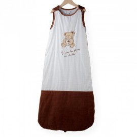 gigoteuse ours chocolat 110 cm