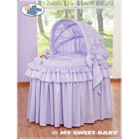 Berceau et parure complète avec jupe violet